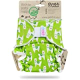 Petit Lulu Bamboo Fitted Maxi-Night Diaper | Hook & Loop | Fluffy Organic | Reusable & Washable | Made in Europe…