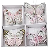 Deko Schmetterling am Clip 8 cm 8 Stück rosa