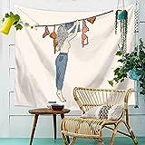 HANSHI Wandteppich Modern Weich Dünn Wandbehang Wandtuch Tischdecke Strandtuch Aus leichtem Polyster Wanddeko Dekoration für Ihr Zimmer HYC41-3