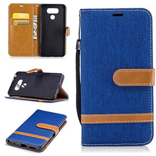 Nancen Wallet Case Hülle für LG G6 (5,7 Zoll) ,länglich-Taste Magnet ,Muster Flip Funktion Kartenfächer Etui ,Schütze Dein Telefon (Wasserdicht Verizon Telefon)