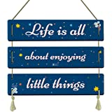 Indigifts Wall Hanging Decoration for Home Motivating Quote Printed DIY 3-Panel Wall/Door Sign Hanging 18x26 cm…