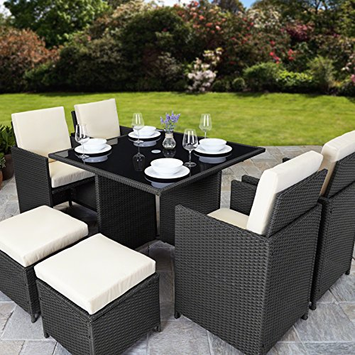 Garden Furniture 8 Seater Rattan cube garden furniture set 8 seater outdoor wicker 9pcs rattan cube garden furniture set 8 seater workwithnaturefo