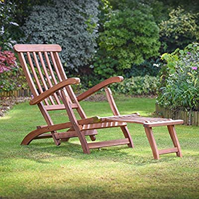 Plant Theatre Reclining Hardwood Steamer Chair – Fully Assembled Superb Quality produced by Plant Theatre - quick delivery from UK.