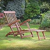 Plant Theatre Chaise longue inclinable en bois dur–Superbe qualité