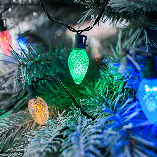 60 Multi Coloured LED Retro Style Pinecone Christmas String Lights