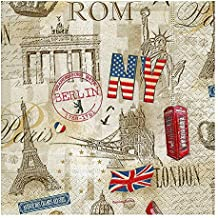 Luxury Vintage-Decorativa de servilletas de papel Vajilla decoupage CRAFT-ocasión para fiesta Capitales