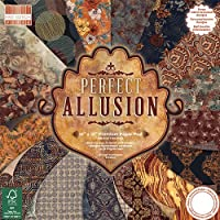 Premium Craft Cardstock First Edition 12x12 Designer Paper Pad - Perfect Allusion