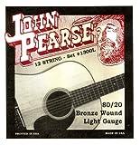 John Pearse 1300L Jeu de 12 cordes pour Guitare Bronze
