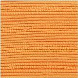 Ricorumi DK Wolle 100% Baumwolle Häkelgarn Häkelwolle 1 Knäul 25g Farbe (026 Mandarine)