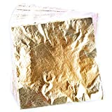 euhuton Pan de Oro de Imitación de 100 Hojas para Manualidades, Bricolaje, Muebles, decoración, 14 por 14 cm