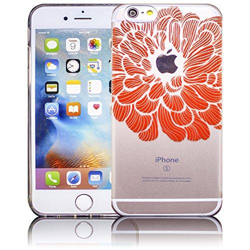 Apple iPhone 6 / iPhone 6S - Design 11 Silikon Crystal Kristall clear transparent durchsichtig Schutz-Hülle Hülle weiche Tasche Cover Case Bumper Etui Flip smartphone handy backcover Schutzhülle Handy Design 13