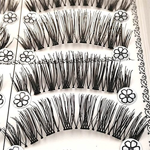 ✿Faux Cils Magnetique- Higlles Cils Magnétiques Faux Cils 3D Réutilisables,Faits à La Main Pure pour Maquillage Quotidien,Soirée,Mariage,Fête