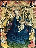 Posterlounge Forex 100 x 130 cm: The Virgin of The Rose Bush de...