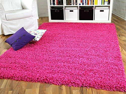 Hochflor Langflor Shaggy Teppich Aloha Pink Rosa Flieder - Sofort Lieferbar in 8 Größen