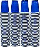 AmazonBasics - Vasos de plástico desechables (pack de 240), 473 ml, Azul