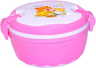 Blossoms Kid's Cartoon characters Naughty Bear Lunch Box, 550ml (Pink)