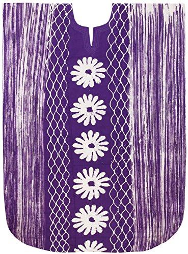 LA LEELA Frauen Damen Baumwolle Kaftan Tunika Batik Kimono freie Größe Lange Maxi Party Kleid für Loungewear Urlaub Nachtwäsche Strand jeden Tag Kleider lila_X480 -
