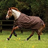 Horseware Amigo Bravo 12 - Winterdecke oder Regendecke 140cm ohne Füllung Chocolate/Choc&Cream