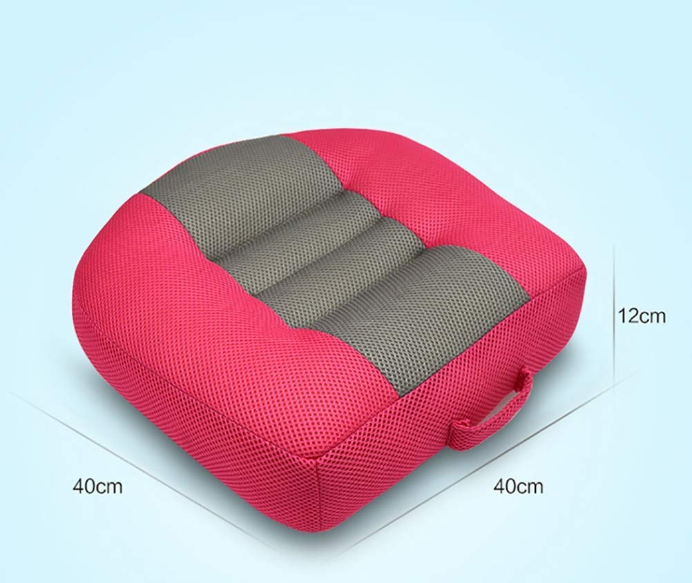 Car Seat Cushion, Heightening Height Boost Mat Portable Breathable Mesh, Seat booster, Ideal For Car Office,Home, Used All The Year,Black Huiiv Enjoy a better anatomical sitting position. Extra height Booster, whilst driving. Feel the high quality Car Seat Pad support your legs and back, when in the car or for sitting at your computer/desk or just at home. Simply rests on the base of the chair - Easy to keep clean 3