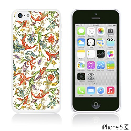 OBiDi - Fabric Pattern Hard Back Case / Housse pour Apple iPhone 5C - Pink Floral Fabric Prints Colorful Floral Pattern