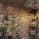 ZHAORLL Retro 3D dreidimensionale antike Kultur Stein Stein Stein Rock Tapete Restaurant Café Hintergrundbild 0,53m * 10m,57802