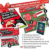 ZYANKALiga GESCHENK-SET: 3 - Das große Saison-Notfall-Set für Bayer 04-FANs | Gag f. Kollegen z.B. mit Malt Scotch Whisky Lagavulin Glenfiddich Jameson Whisky Buch Set Adventskalender GOURMEO Eiswürfel Whiskysteine
