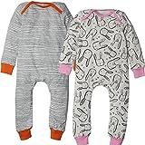 Kadambaby- Premium Baby Sleep Suit And One Piece Romper Bodysuit For Newborn BUNNY Sleepsuit For Baby - Set Of 2