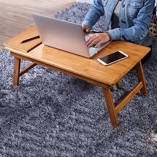 ter Tisch verstellbare faltbare Notebook Tisch Klapp Computer Schreibtisch Bett Tray Laptop Tischständer für Bücher, mit Frühstück im Bett falten Computer Schreibtisch auf dem Bett ()
