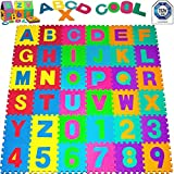 Puzzlematte 86 tlg. - Kinderspielteppich Spielmatte Spielteppich Schaumstoffmatte Matte bunt