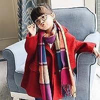 QHDZ Niños Mode rejilla patrón larga bufanda caliente bufanda