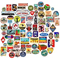 Luggage stickers 85x suitcase patches vintage travel labels retro vintage graffiti iphone car stickerbomb style vinyl decals door skateboard cafe