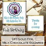 Eternal Design personnalisé brillant DIY enfants anniversaire 'Merci pour Entrent' dragées de chocolat au lait en aluminium Doré Kblsc 41 100 per pack