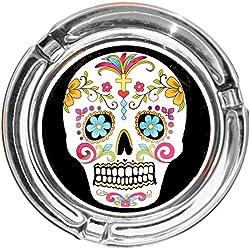 """'Cenicero/Cenicero en Diseño Moderno: """"día de los Muertos tipo:/Calavera Skull Blanco"""