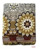 Mandhania Pooja Solapuri Chaddars 100% Cotton Dailyuse Double Bed Blanket Pack of 1 - Multicolor