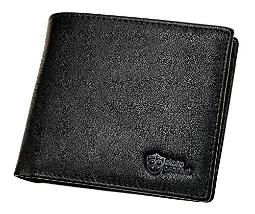 Porte-monnaie Protection RFID en cuir noir haute qualité pour cartes de crédit, cartes et carte d'identité   Portefeuille de sécurité Data Protect
