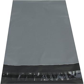 100 Large Mixed Grey Mailing Postal Bags 55mu 25 Each Of 16x21 17x24 22x30 28x34