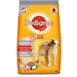 Pedigree Puppy Dry Dog Food, (High Protein Variant) Chicken, Egg & Rice, 3 kg