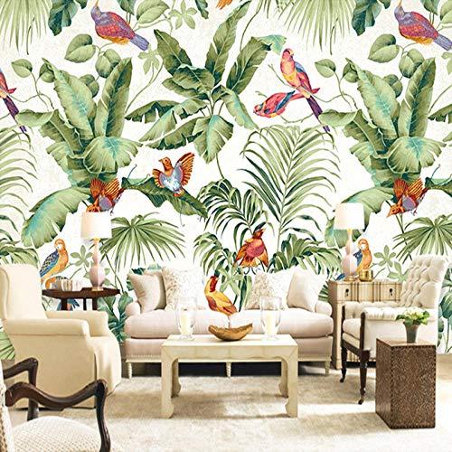 e Gemalte Blume Vogel Grünes Blatt Wandbild Wasserdichte Leinwand Malerei Für Wohnzimmer Wandkunst-A1 ()