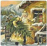 3drose Santa Claus Weihnachtsbaum zu liefern–Mauspad