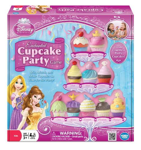 DISNEY PRINCESS ENCHANTED CUPCAKE GAME - ALIMENTO DE JUGUETE PRINCESAS DISNEY (WONDERFORGE WFI01088) (VERSION EN INGLES)