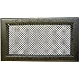 Grille d 39 a ration chemin e blanc 345 x 195 mm dmo - Grille d aeration cheminee ...