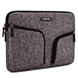 DOMISO 15-15,6 Pollici Custodia Borsa con 2 Tasche Resistente all'Acqua per Computer Portatile/Notebook/Apple/Lenovo IdeaPad ThinkPad/HP Spectre x360 Pavilion 15 ENVY 15/Dell, Grigio