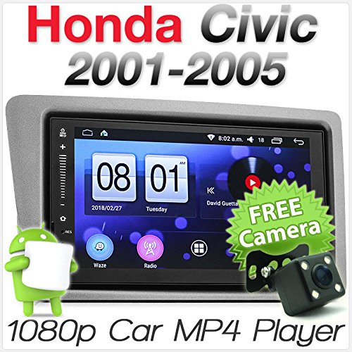 Android Auto MP3 Player für Honda Civic Hatch EP2 EP3 Stereo Radio GPS Faszie Kit Honda Civic Stereo