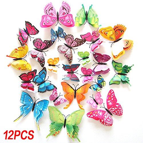 3D Schmetterling Magnete Kühlschrankmagnete - Wandsticker Wandtattoo Wanddeko für Wohnung, Raumdekoration, Wand-Dekor (Schmetterling-kühlschrank-magnete)