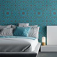 J BOUTIQUE pared plantillas Stencil Kalaat cadorabo, Allover plantilla para pared pintura Decor