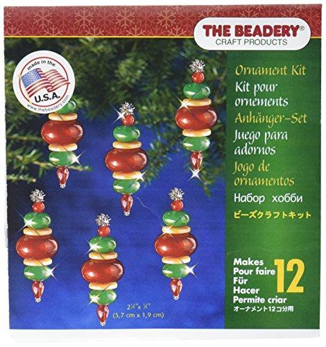 Beadery Kunststoff Holiday Perlen Ornament Kit Viktorianischer Weihnachtskugeln 5,7cm x 1,9x Macht 12 -