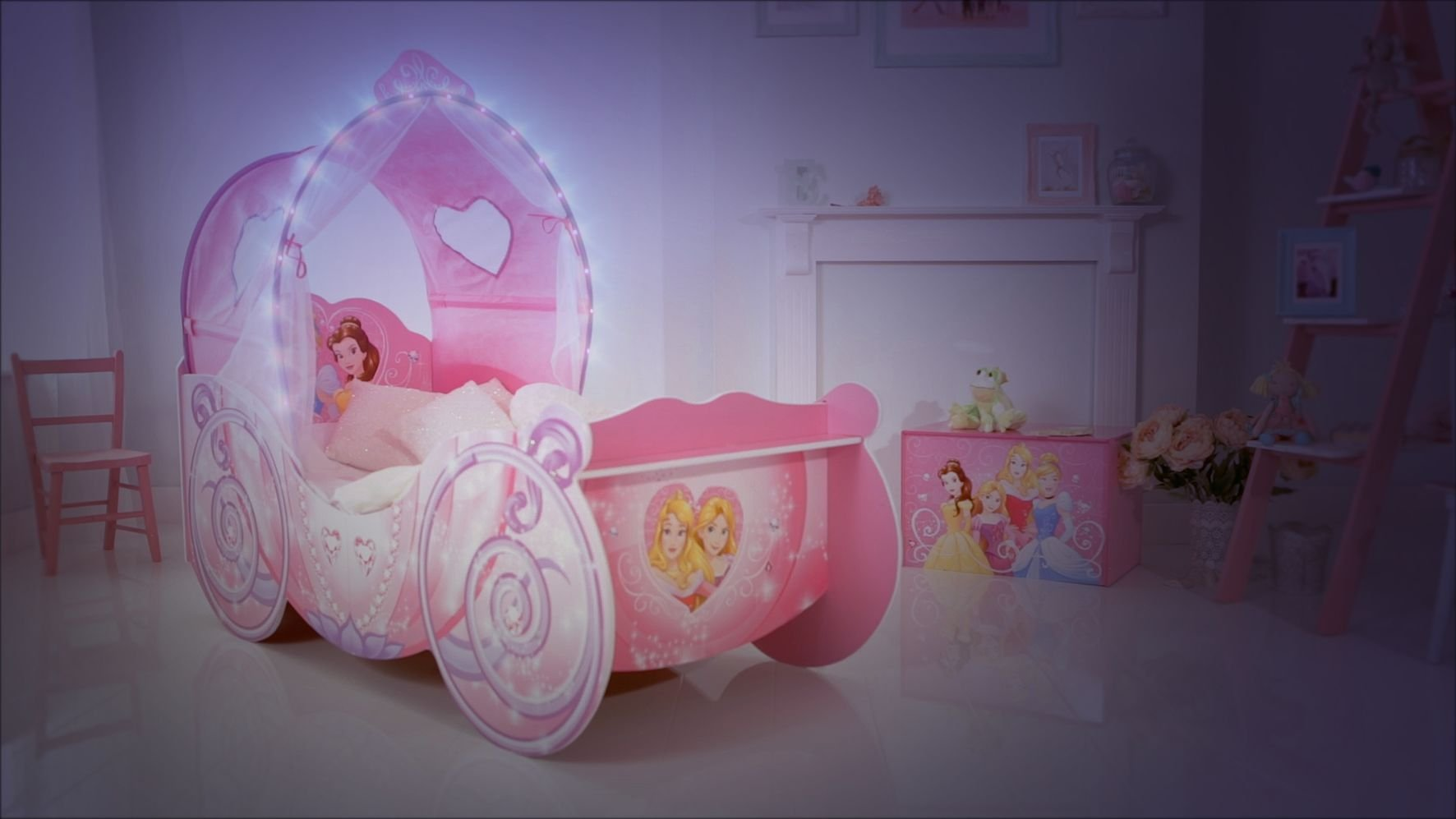 cheap for discount d658f 7f2f8 Disney 452DNY Princess Carriage Kids Toddler Bed By HelloHome | Baby  Toddlers