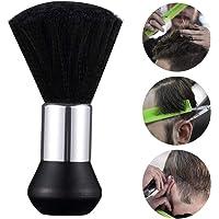 Surplex Pennello Parrucchiere, Barbiere collo spazzola ideale per rimuovere i capelli dopo il taglio, Nero