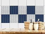 GRAZDesign 770385_15x15_FS30st Fliesenaufkleber Anker Maritim | Fliesenbilder für Bad | Blau - Weiß | Fliesen Zum Aufkleben Bad | Selbstklebende Fliesen-Folie (15x15cm//Set 30 Stück)