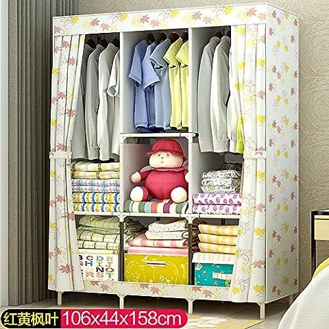 WJP modernos armarios simplificada de tela de refuerzo de bricolaje armario ropero W-427